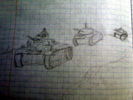 some tanks in my notebook by sfxdx