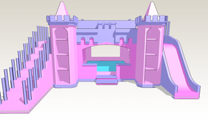 MMD - Pink Castle Bed -UPDATE- by amiamy111