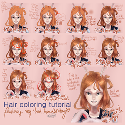 Coloring and shading hair ~ Tutorial by ChocoStyle