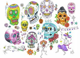 Sugar Skull Flash Page by bthslayr