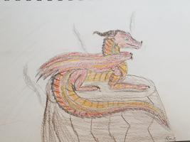 Wings of Fire Peril Sketch by LunaTheDragonBunny