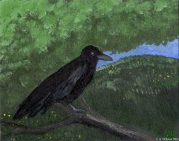 Crow Painting by weaselwoman