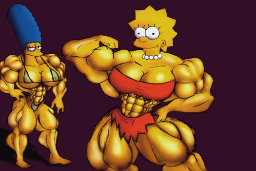 Marge and Lisa by dr-robert420