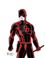 Daredevil re-design - one colour by chrismas-81