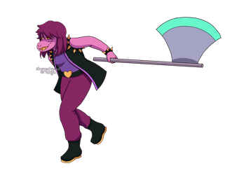 Deltarune susie by Stereotyped-Orange