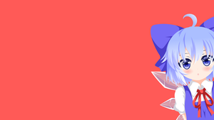 Touhou - Cirno minimalism wallpaper by Carionto