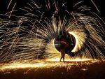 fire spinning by hool132