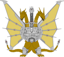 Mecha-King Ghidorah by SlayerOfTears