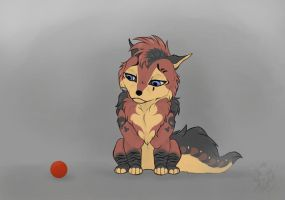 !!Little red ball!! by BadWolfRoxy