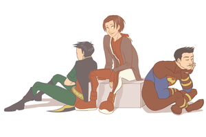 young justice: muted by LizCoshizzle