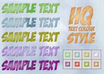 HQ Text Colour Styles by Rey0552