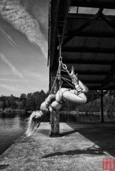 Boathouse shibari hang by WykD-Dave