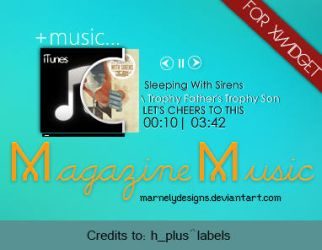 +Skin XWidget l Music Magazine by MarNelyDesigns