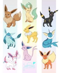 Eeveelutions! by JadeAriel