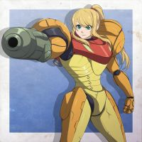 Samus Patreon Sketch D by Oniika