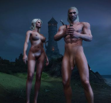 Ciri And Geralt - Inappropriate Subject by Rastifan