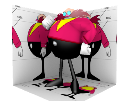 Low Poly Classic Eggman by Nash-The-Mutt