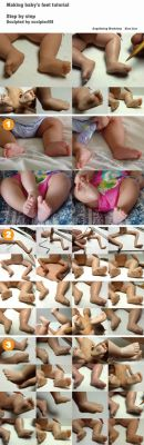 Making baby feet tutorial by sculptor101