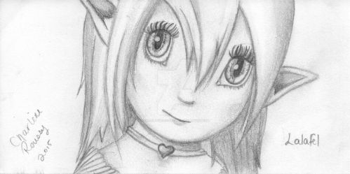 Scan of my original Lalafel, HB2 by CharleneBoostRoussy