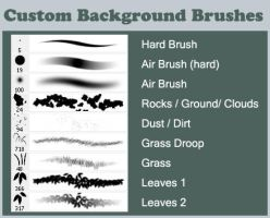 Custom Background Brushes by kichigai