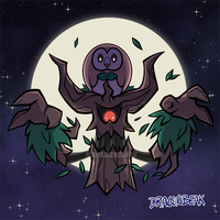 Spooky Rowlet by DragonBeak
