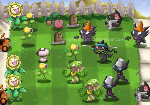 Plants vs Zombies by sapphireluna