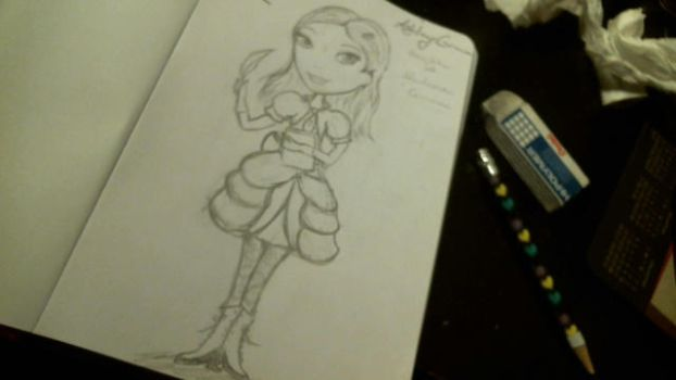 Ashley Grimm (Ever After High OC) Not Colored by AmethystDragon13