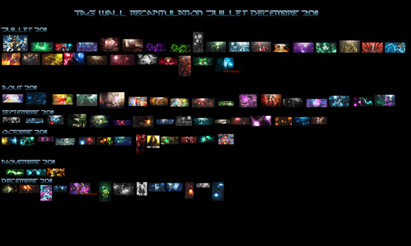 Tag wall juillet decembre by Kia-style
