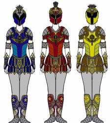 Power Rangers Shield Maidens by Eddmspy