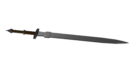 3D Two-Handed Sword by Kuroktos