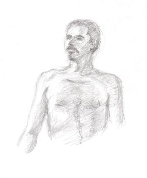 life drawing - man - frontview by marypmadigan