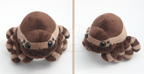 Creepy, crawly, cute and cuddly spider plushie by SugarcubeCherry