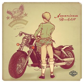 APH - Harley Davidson Pin-Up by C4L4M1T43R0ST4T0