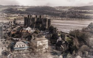 Conwy castle in a view by aglezerman