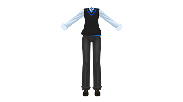 MMD Boys Uniforms in my school DL by MacaronTeaBabyTearse