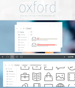 Oxford - Windows 10 Visual Style by participant