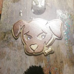 Black Lab Brooch by MahouBunnyBell