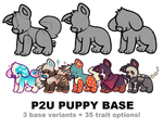 puppy base P2U - $3.50 or 350 points! by thekingtheory