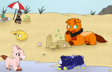 Magic Class Wk 2: Day at the beach. by Icewings413