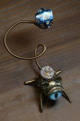 Steampunk Cat Dice Buddy by CatherinetteRings