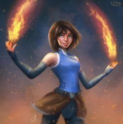 Korra the Avatar by silvanuszed