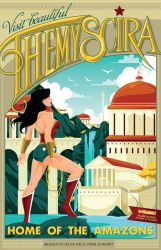 Themyscira travel poster by MikeMahle