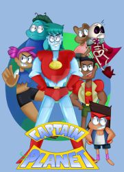 OK K.O Lets be Heroes with Captain Planet by Sir0Venomous0Art