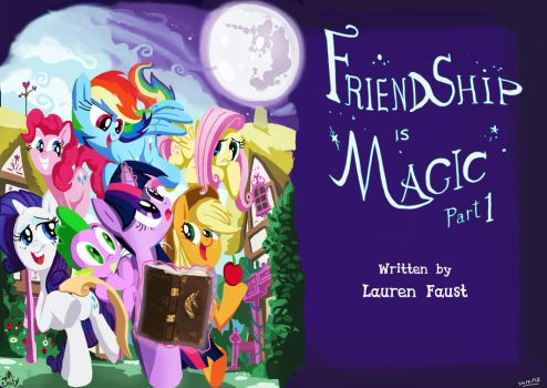 crazy ponies in this town :FIM title cards series by Jowybean