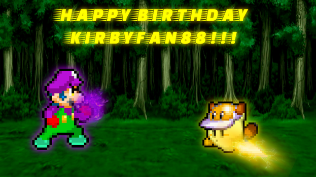 SuperShadeMario vs. kirbyfan88 (Happy Birthday!!) by SuperShadeMario