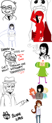 oh shit another doodle dump by ph0bus