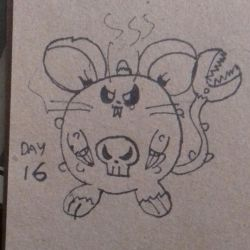 Day 16: Tiny Toxic Zombie Rat by dykroon-chan