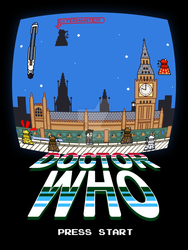Tenth Doctor - Daleks Invading London (Pixel art) by JoltJolteon