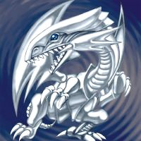 Blue-Eyes White Dragon (White Dragon) Artwork by Carlos123321