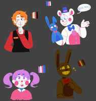 Fnaf Color Pallete Challenges by NekoIcee